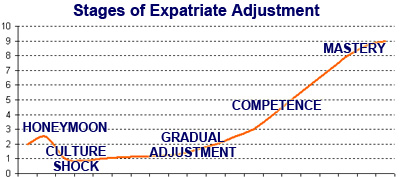 Stages of Expatriate Adjustment